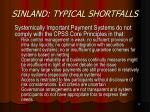 sinland typical shortfalls12
