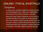 sinland typical shortfalls14