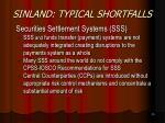 sinland typical shortfalls16