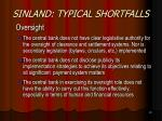 sinland typical shortfalls18