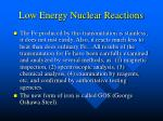 low energy nuclear reactions37