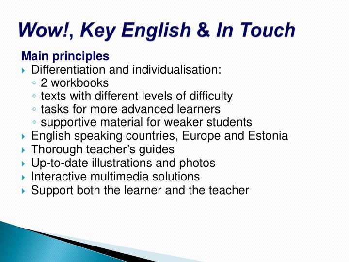 Wow key english in touch3