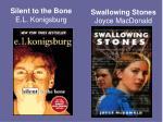 silent to the bone e l konigsburg
