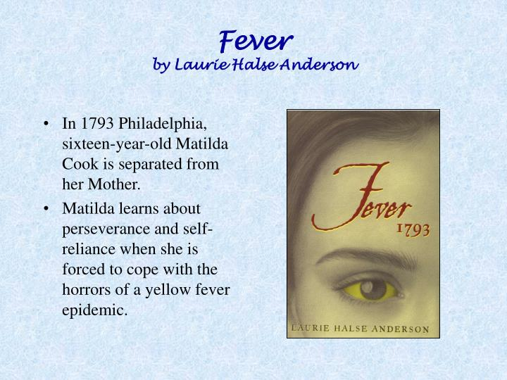Fever by laurie halse anderson