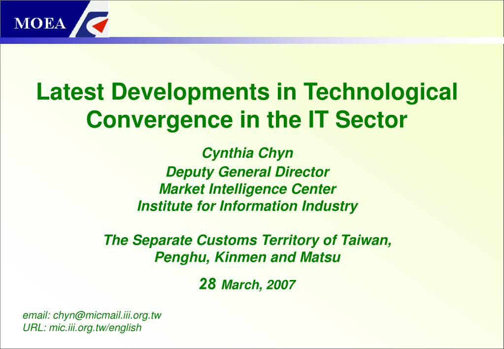 latest developments in technological convergence in the it sector l.