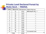 private land declared forest by state govt mahul