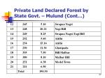 private land declared forest by state govt mulund cont