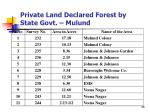 private land declared forest by state govt mulund