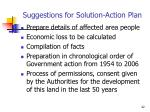 suggestions for solution action plan