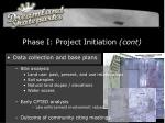 phase i project initiation cont