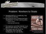 problem nowhere to skate