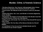 murder crime forensic science