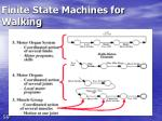 finite state machines for walking