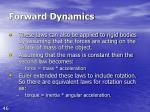 forward dynamics46