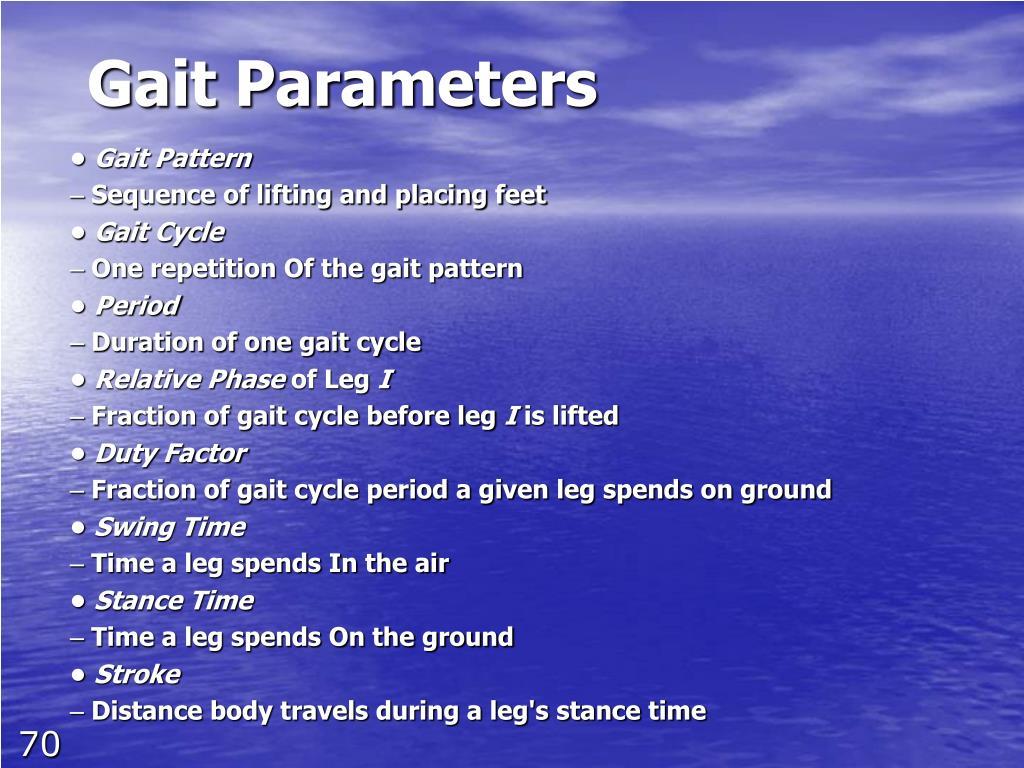 Gait Parameters