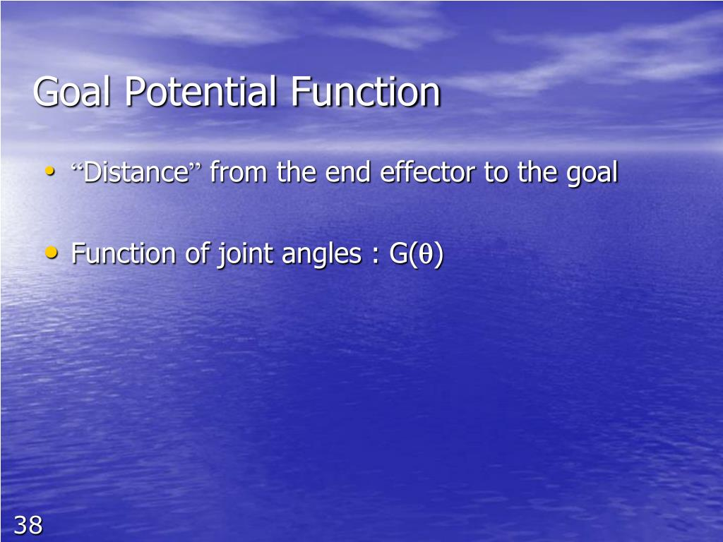 Goal Potential Function