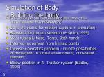 simulation of body building the body