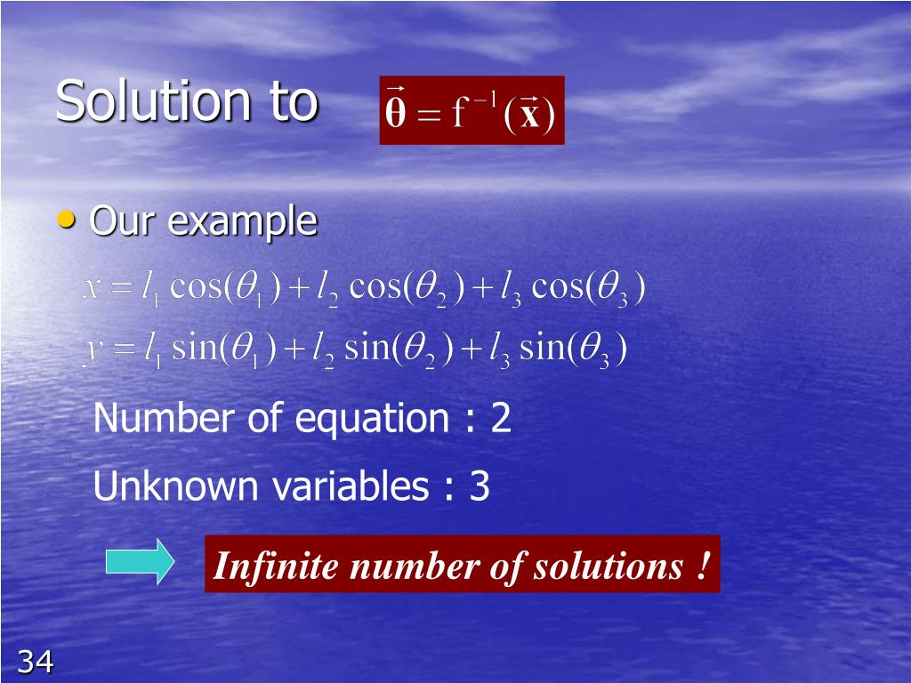 Infinite number of solutions !