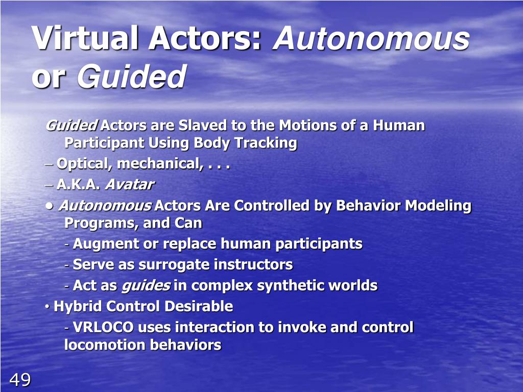 Virtual Actors: