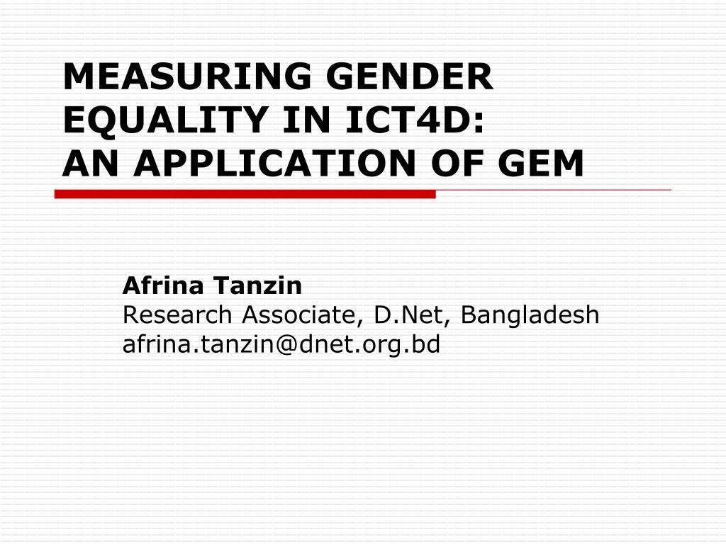 afrina tanzin research associate d net bangladesh afrina tanzin@dnet org bd l.