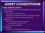 joint conditions103