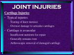 joint injuries97