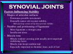 synovial joints77
