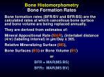bone histomorphometry bone formation rates