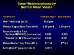 bone histomorphometry normal mean values87