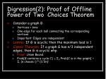 digression 2 proof of offline power of two choices theorem