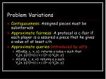 problem variations