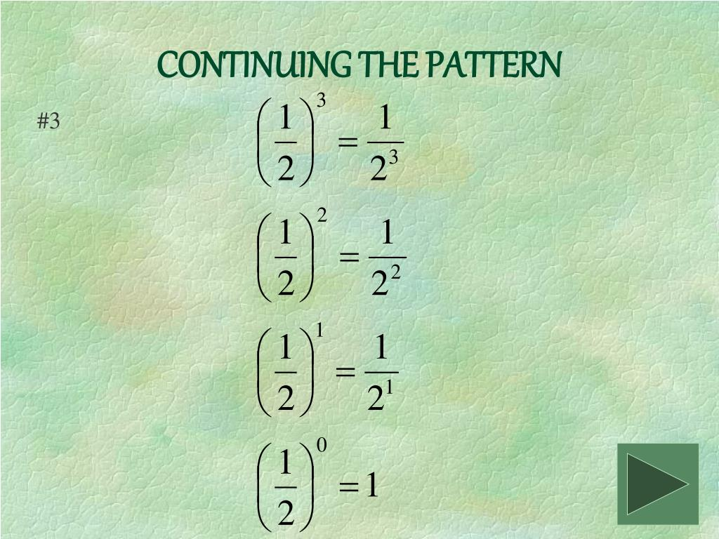 CONTINUING THE PATTERN