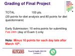 grading of final project