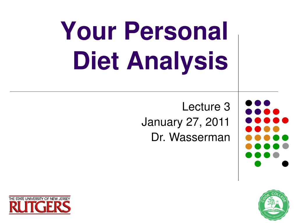 your personal diet analysis l.
