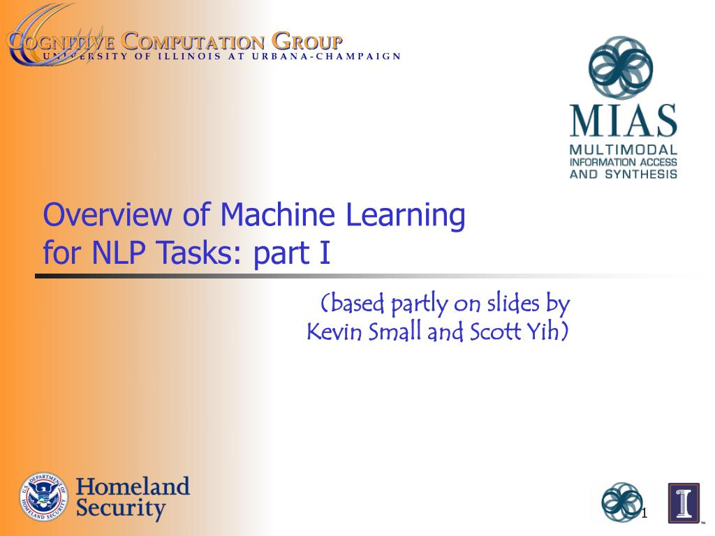 overview of machine learning for nlp tasks part i l.