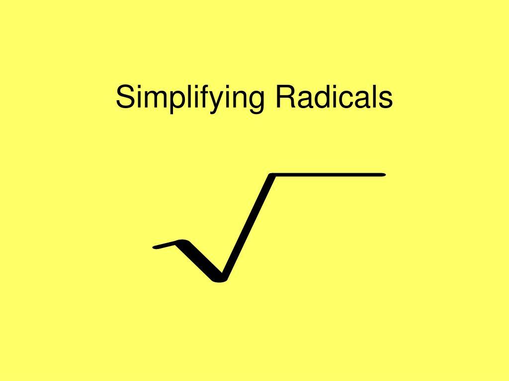 simplifying radicals l.