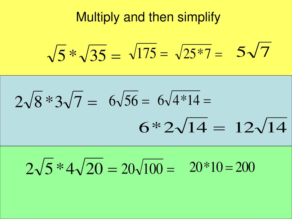 Multiply and then simplify