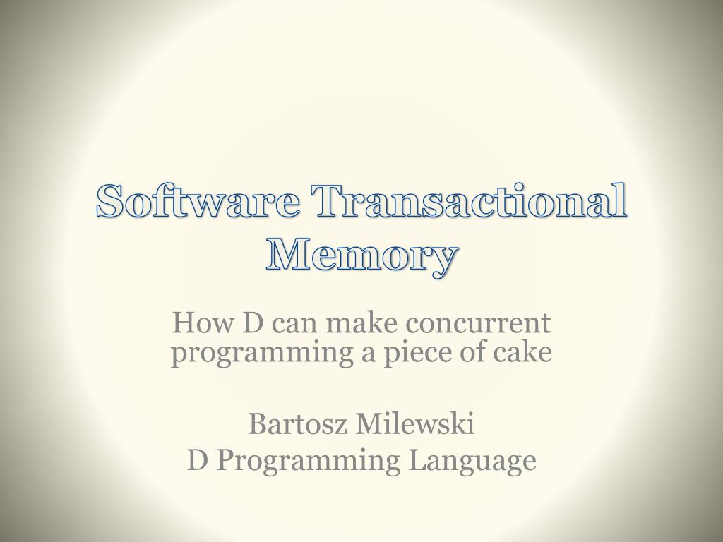 software transactional memory l.