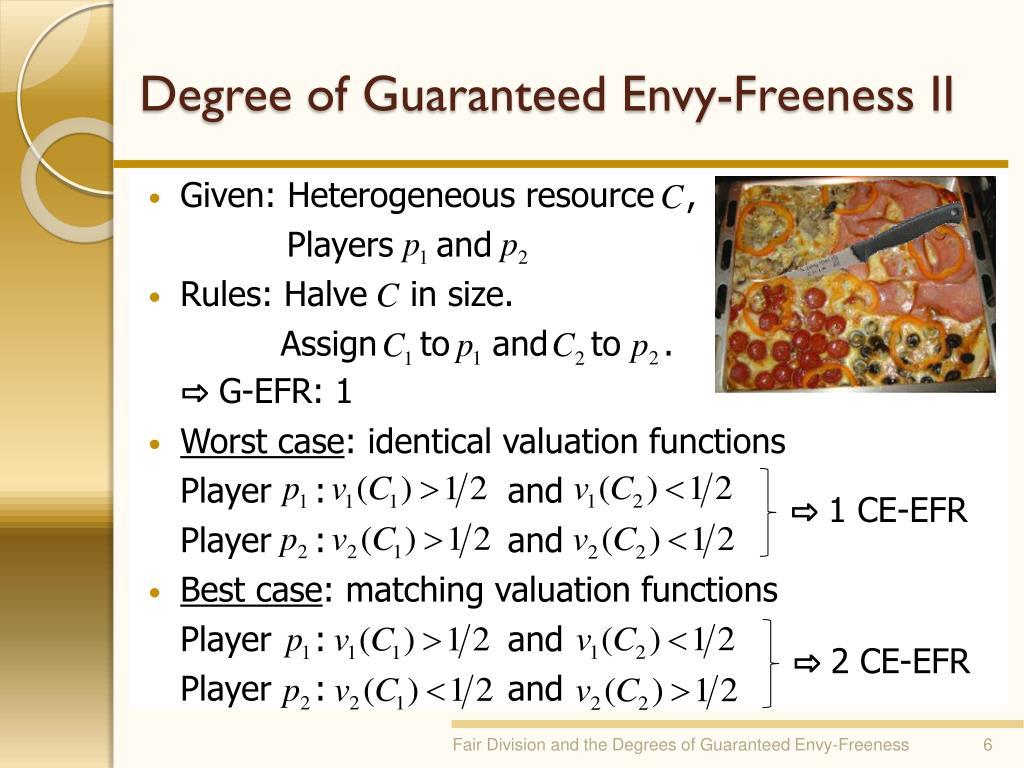Degree of Guaranteed Envy-Freeness II