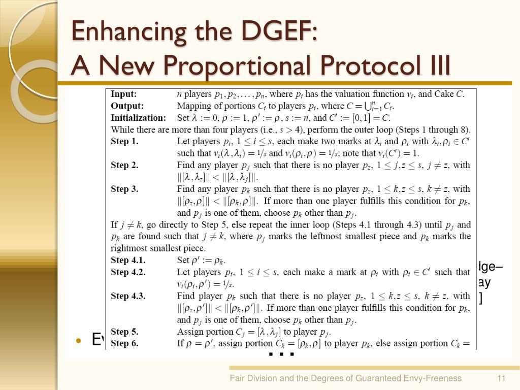 Enhancing the DGEF: