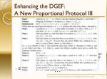 enhancing the dgef a new proportional protocol iii