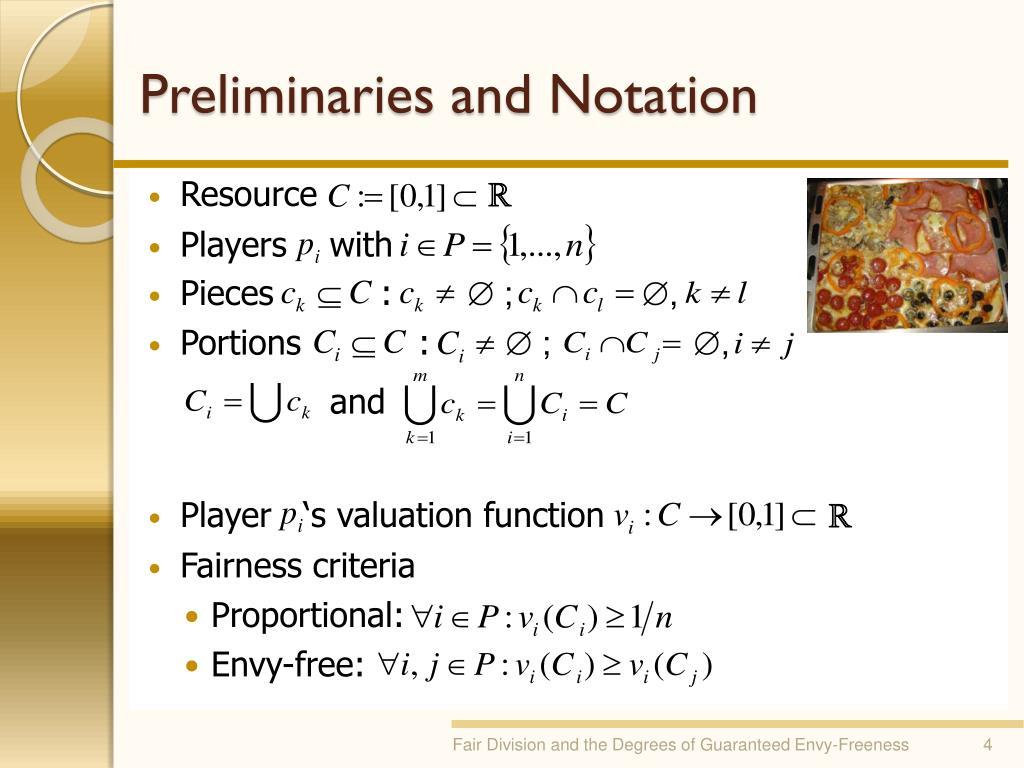 Preliminaries and Notation