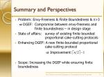 summary and perspectives