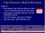 cake protocol ball bin game
