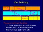 one difficulty
