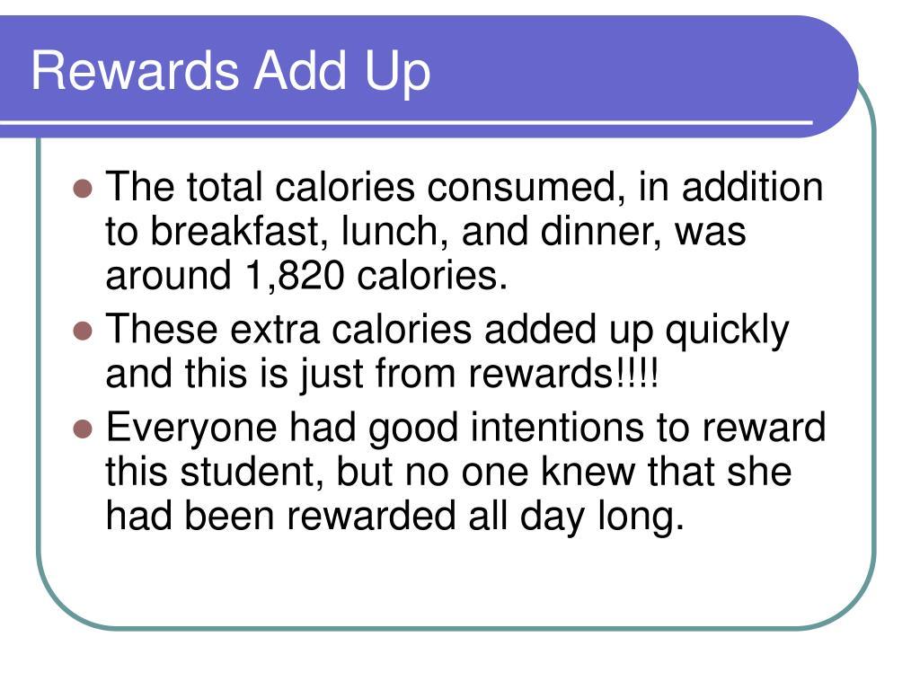 Rewards Add Up