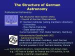 the structure of german astronomy