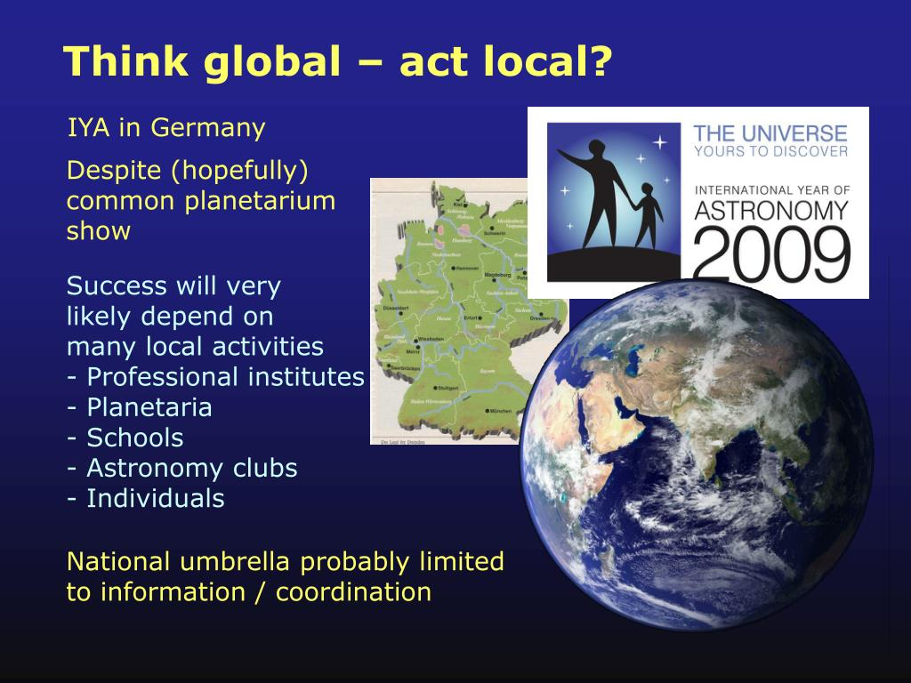Think global – act local?