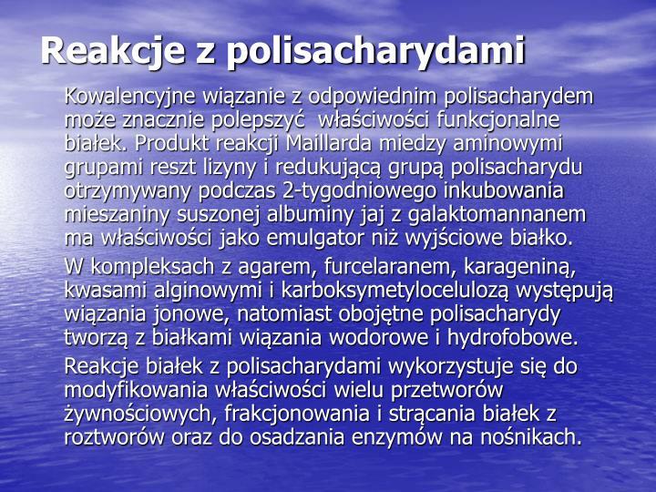 Reakcje z polisacharydami
