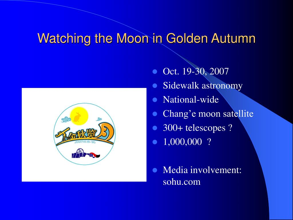 Watching the Moon in Golden Autumn